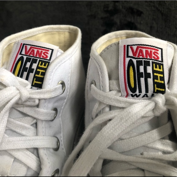 93b1f2d3 Vans Men's Limited Edition White High Top Sneakers